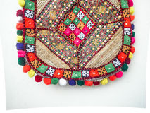 India bag. Was suspended on white wall Royalty Free Stock Photos
