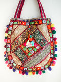 India bag. Was suspended on white wall Royalty Free Stock Images
