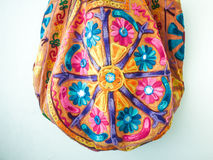India bag. Was suspended on white wall Stock Photos
