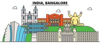 India, Bangalore, Hinduism. City skyline, architecture, buildings, streets, silhouette, landscape, panorama, landmarks. India, Bangalore, Hinduism. City skyline Stock Images