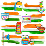 India banner for sale and promotion Royalty Free Stock Photo