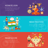 India Banner Set Royalty Free Stock Photos