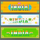 India banner in truck paint style Stock Images