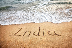 India on the beach Royalty Free Stock Image
