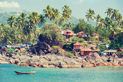 India. Beach landscape. Stock Photo
