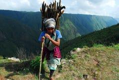 india bergkvinnor Arkivfoton