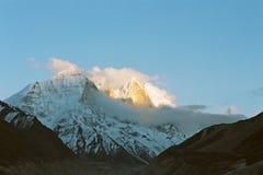 India, Bhagirathi zet op. Stock Foto's
