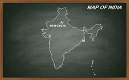 India on blackboard Stock Photo