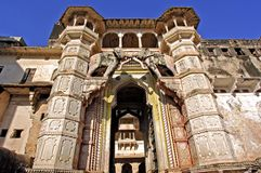 India, Bundi: fort and  palace Stock Photo