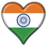 India button flag heart shape Stock Photo