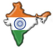 India button flag map shape Royalty Free Stock Image