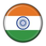 India button flag round shape Stock Photography