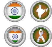 India Buttons Stock Photos