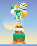 India celebration cake Royalty Free Stock Image