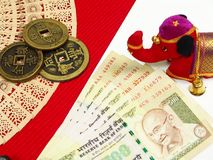 India and China money Stock Photo