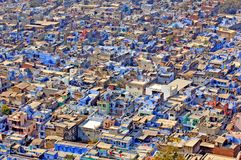 India, Chittorgarh: The blue city Stock Image