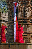 India, Chittorgarh: Jain ceremony Royalty Free Stock Photos