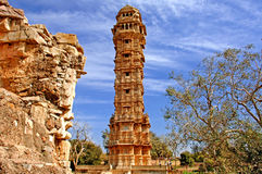 India, Chittorgarh: Vijay Stambh Royalty Free Stock Image