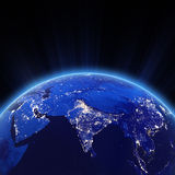India city lights at night. Elements of this image furnished by NASA royalty free illustration