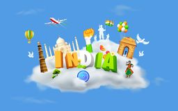 India on Cloud Stock Image