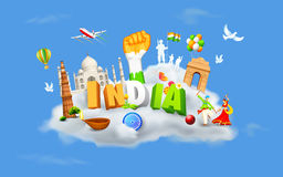 India on Cloud Royalty Free Stock Photos
