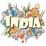 India colored set Stock Photo