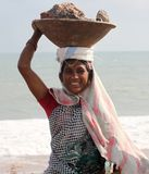 India, Coolie, Labor, Work, Rocks Royalty Free Stock Image