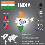 India Country Infographics Template Vector. Royalty Free Stock Photos