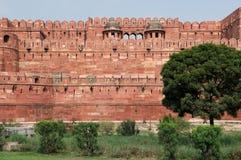 India, Czerwony fort w Agra Obrazy Stock