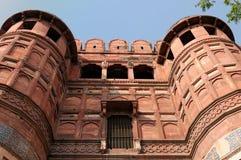 India, Czerwony fort w Agra Zdjęcie Stock