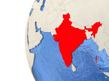 India on 3D globe Royalty Free Stock Image