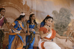 India dancers stock image