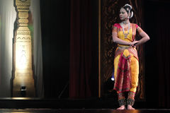 India dancing. The National Theatre in Bangkok will come alive with the exotic beat, rhythm and tempo of the world's drums during a two-day International Drum Royalty Free Stock Photo