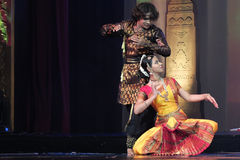 India dancing. The National Theatre in Bangkok will come alive with the exotic beat, rhythm and tempo of the world's drums during a two-day International Drum Royalty Free Stock Image