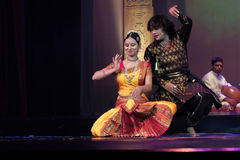 India dancing. The National Theatre in Bangkok will come alive with the exotic beat, rhythm and tempo of the world's drums during a two-day International Drum Royalty Free Stock Photography