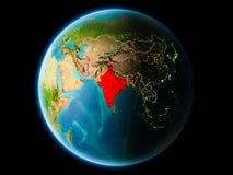 India in de avond Stock Foto
