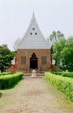 India, de Boeddhistische tempel. Stock Afbeelding