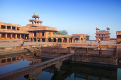 India De geworpen stad van Fatehpur Sikri Stock Foto's