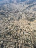 India- December 2015- View from airplane window. View of a city in Madhya Pradesh state -India Royalty Free Stock Photography
