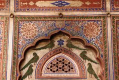 India, Decoration on the Haveli wall Royalty Free Stock Photos