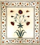 India, Delhi: Detail of  marble decor Stock Photos