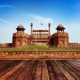 INDIA, DELHI, het Rode Fort stock afbeeldingen