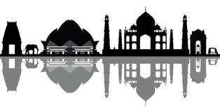 India Delhi nowa linia horyzontu ilustracji