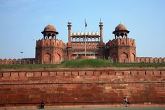 India, Delhi, the Red Fort Royalty Free Stock Photos