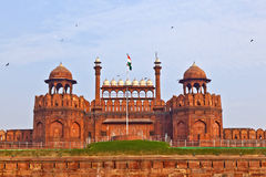 India, Delhi, the Red Fort, it was built by Shahjahan as the Del Royalty Free Stock Photo