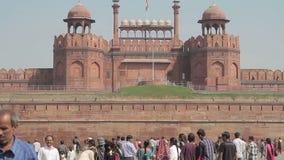 India Delhi rewolucjonistki fort zbiory wideo