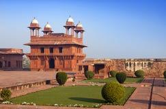 india Den kastade staden av Fatehpur Sikri Arkivfoto