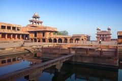 india Den kastade staden av Fatehpur Sikri Arkivfoton