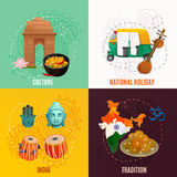 India 2x2 Design Concept Royalty Free Stock Images