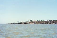 1977 india Det tidigare portugisiska fortet av Daman Arkivbild